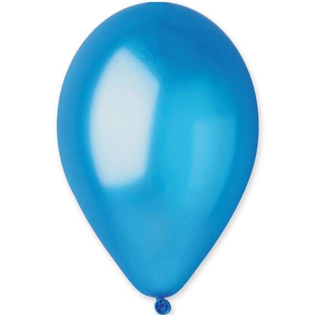 """Balony """"Classic"""", niebieski metalik, GEMAR, 13"""", 50 szt"""
