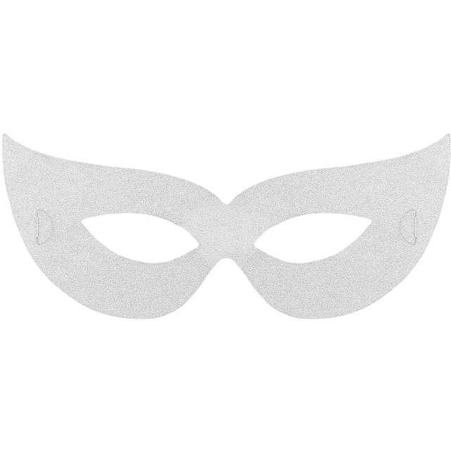 "Maska ""Wenecka Classic"", papierowa, srebrna, 4 szt"