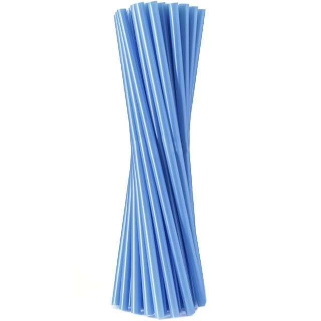 """Słomki proste """"Classic - grube"""", niebieskie, Godan, 24 cm, 100 szt"""