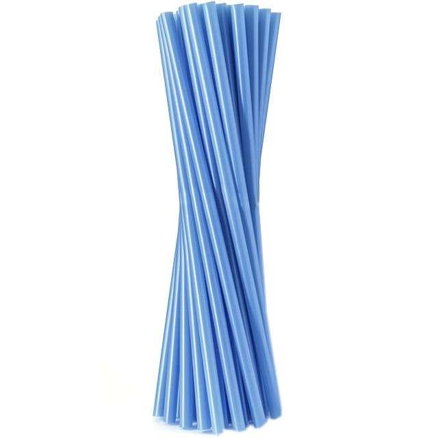 """Słomki proste """"Classic - grube"""", niebieskie, Godan, 8 mm, 24 cm, 20 szt"""