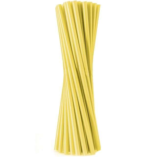 """Słomki proste """"Classic - grube"""", żółte, Godan, 8mm, 24 cm, 100 szt"""