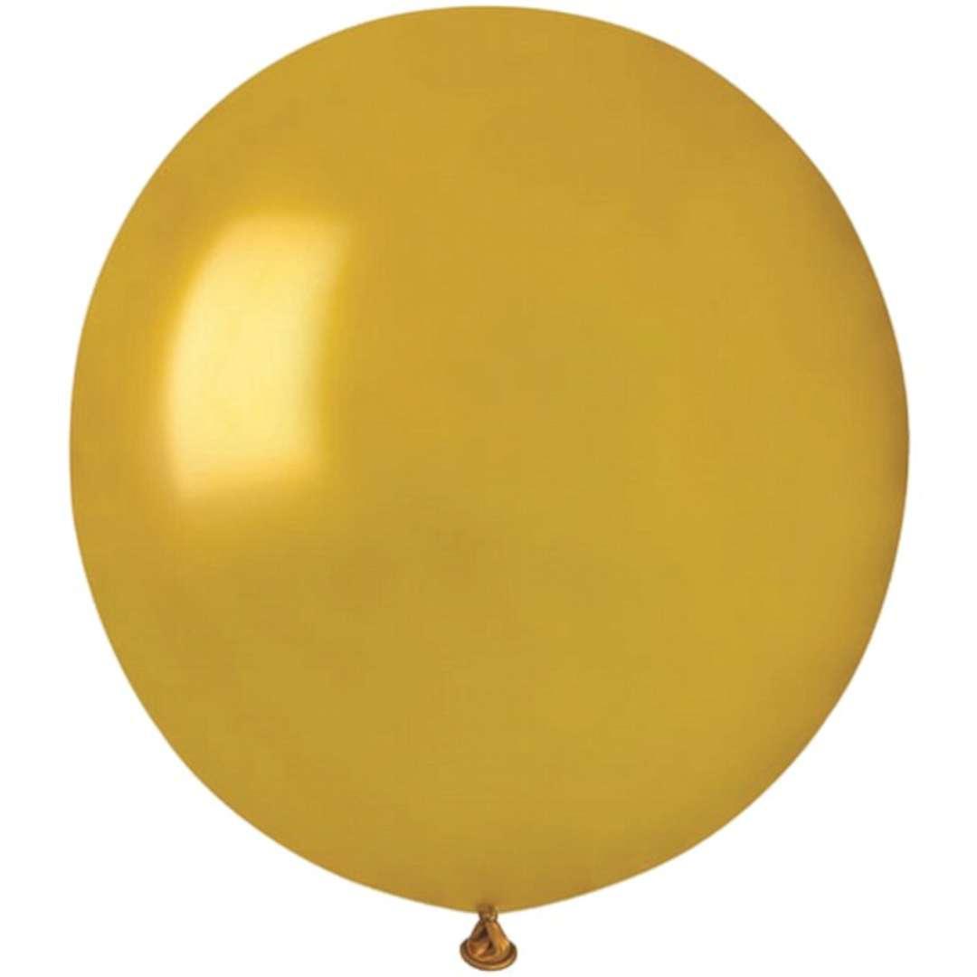 """Balony """"Classic"""", złoty metalik, GEMAR, 50 szt"""