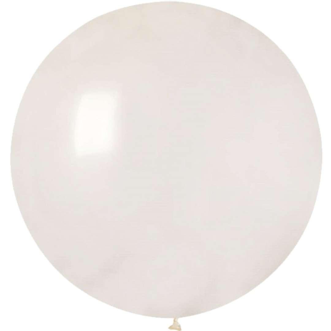 """Balon olbrzym """"Classic"""", transparentny pastel, GEMAR, 80 cm"""