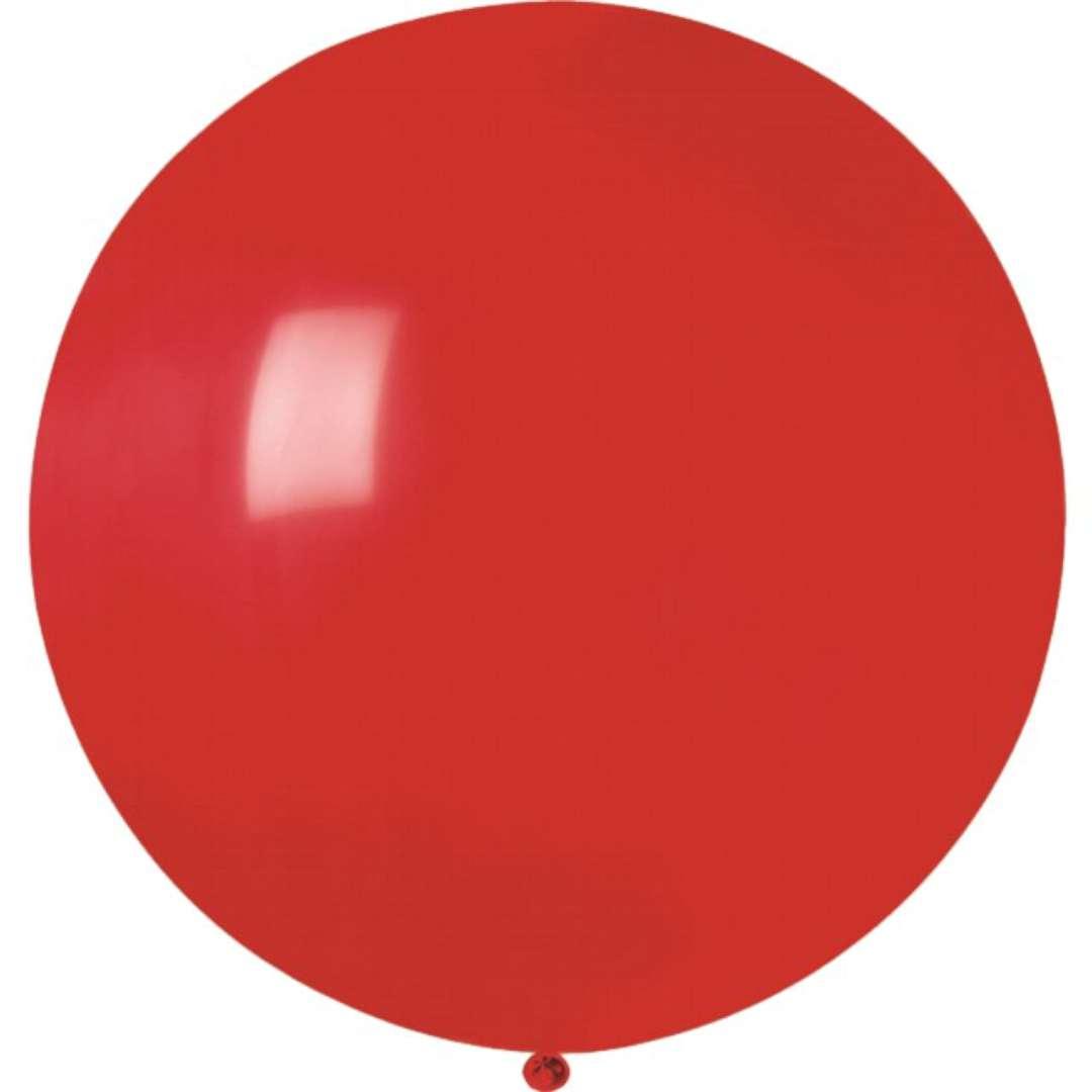 """Balon olbrzym """"Classic"""", czerwony pastel, GEMAR, 80 cm"""