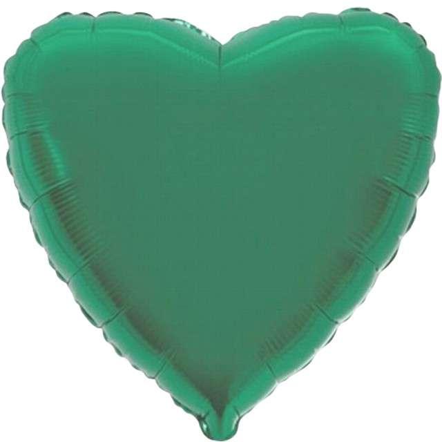 """Balon foliowy """"Serce metaliczne"""", turkusowe, FLEXMETAL, 18"""" HRT"""