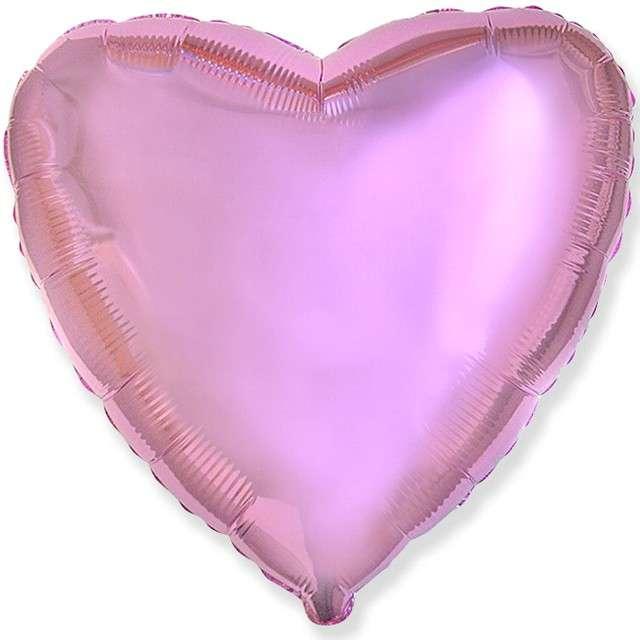 """Balon foliowy """"Serce metaliczne"""", różowy, FLEXMETAL, 18"""" HRT"""