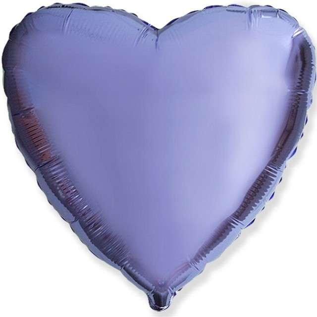 """Balon foliowy """"Serce metaliczne"""", lilowe, FLEXMETAL, 18"""" HRT"""