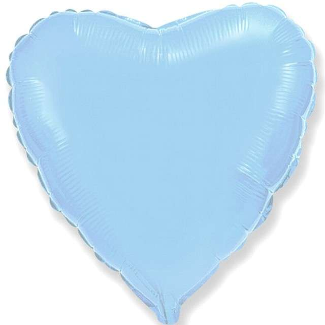 """Balon foliowy """"Duże serce"""", niebieski jasny, Flexmetal, 32"""" HRT"""