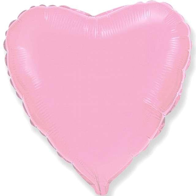 "Balon foliowy ""Duże serce"", różowe, Flexmetal, 32"" HRT"