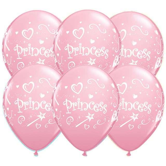 """Balony """"Księżniczka - Princess"""", różowy, Qualatex, 11"""", 6 szt"""