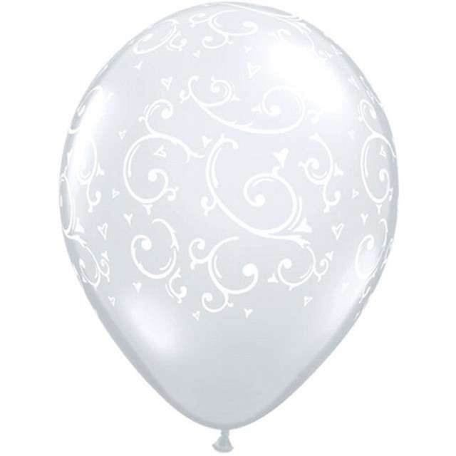 "Balony ""Wzory"", transparentne, Qualatex, 5"", 100 szt."