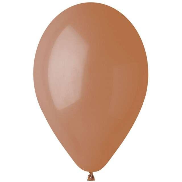 """Balony """"Pastel"""", brązowe kawowe, Gemar, 12"""", 100 szt"""