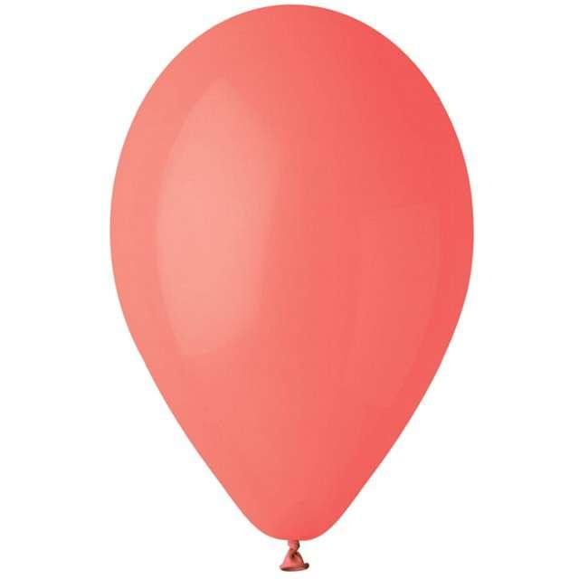 """Balony """"Pastel"""", czerwony koralowy, Gemar, 12"""", 100 szt"""