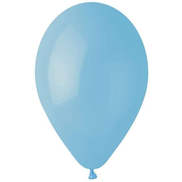 """Balony """"Pastel"""", niebieski jasny, Gemar, 12"""", 100 szt"""