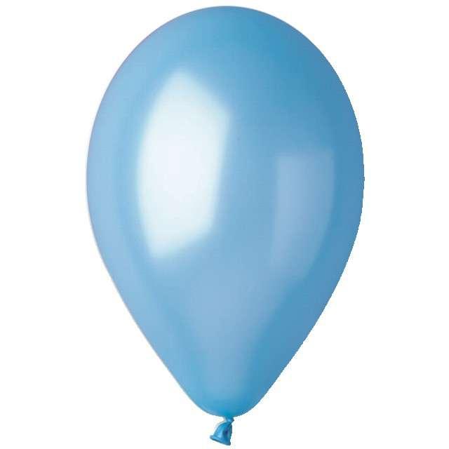 "Balony ""Metallic"", błękitne, Gemar, 12"", 100 szt"