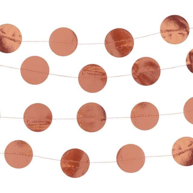 "Baner ""Kółka"", różowe złoto, Godan, 300 cm"