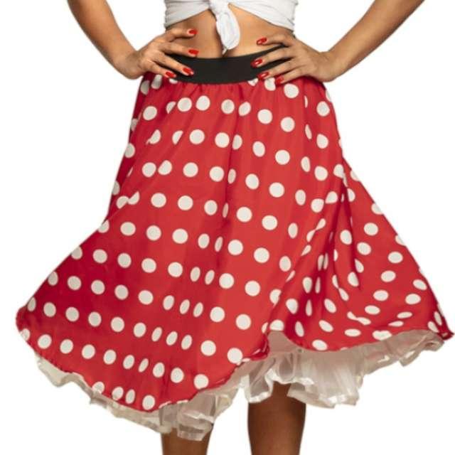 """Spódnica """"Hiszpańskie Lata 50-te"""", czerwona, BOLAND, rozm. M"""