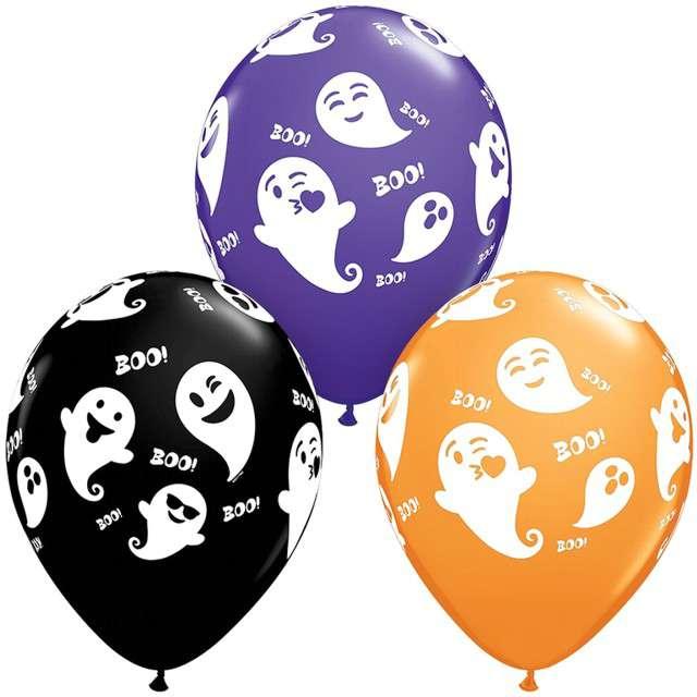 """Balony """"Duszki Halloween"""", mix, Qualatex, 11"""", 25 szt"""