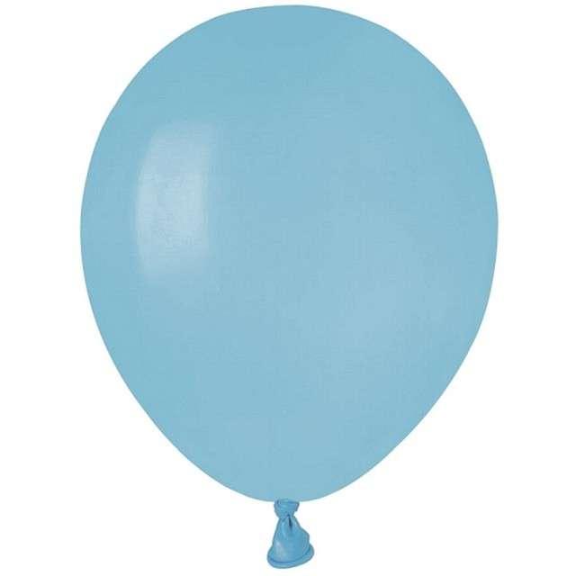"""Balony """"Pastel"""", niebieskie jasne, GEMAR, 5"""", 100 szt"""