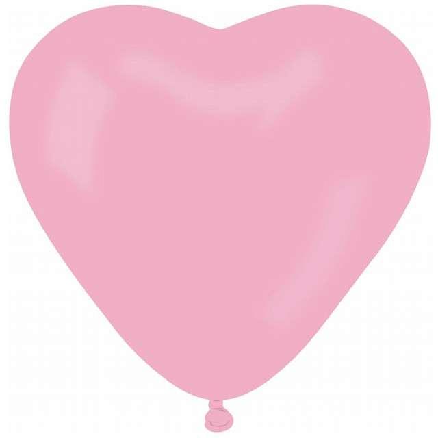 """Balon """"Serce Pastel"""", różowy, Gemar, 25 cm, 50 szt, HRT"""