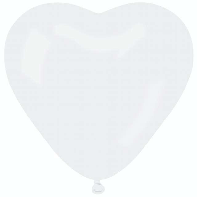 """Balon """"Serce Pastel"""", białe, Gemar, 44 cm, 50 szt, HRT"""