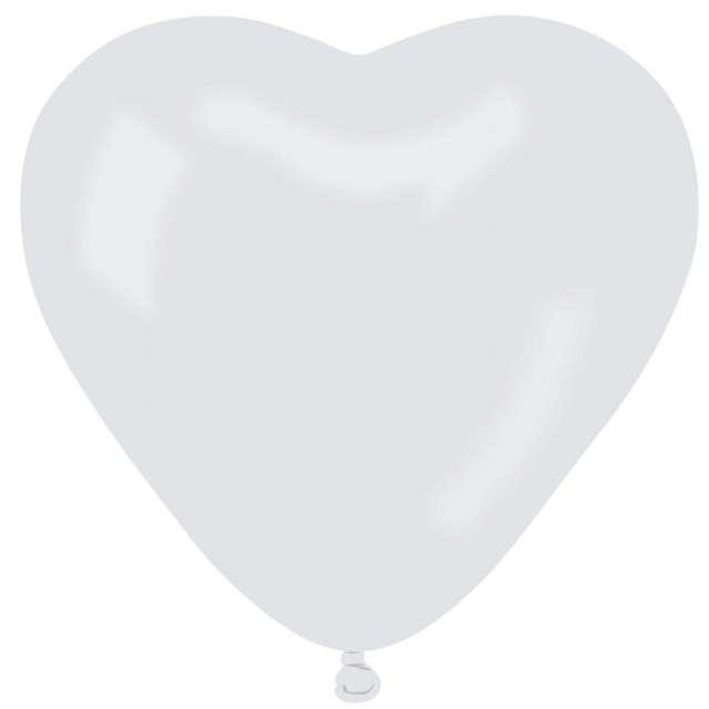 "Balon pastel ""Serce bez nadruku""  biały  6"", 100 szt."