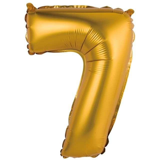 """Balon foliowy """"Cyfra 7 satynowa"""", złota, Godan, 14"""""""