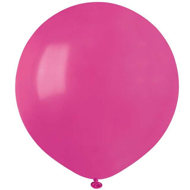"""Balony """"Pastelowe"""", różowe ciemne, Gemar, 19"""", 50 szt"""