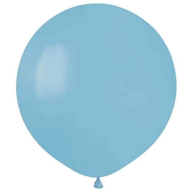 """Balony """"Pastelowe"""", niebieskie jasne, Gemar, 19"""", 50 szt"""