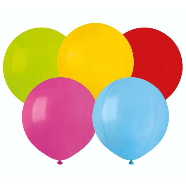 """Balony """"Pastelowe"""", mix, Gemar, 19"""", 50 szt"""