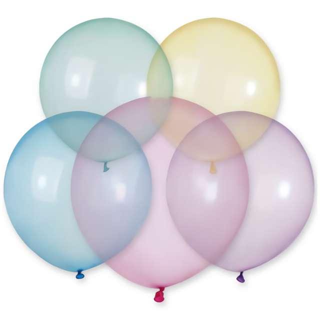 """Balony """"Crystal"""", mix, Gemar, 19"""", 25 szt"""