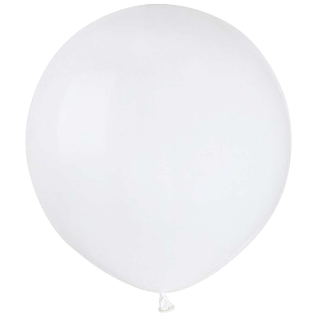"""Balony """"Pastelowe"""", białe, Gemar, 19"""", 50 szt"""