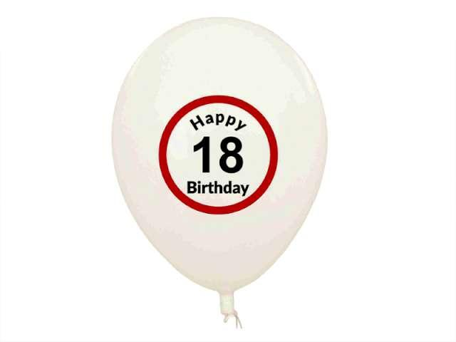 "Balony ""Traffic - Happy Birthday 18"", GadgetMaster, 11"", 5 szt"