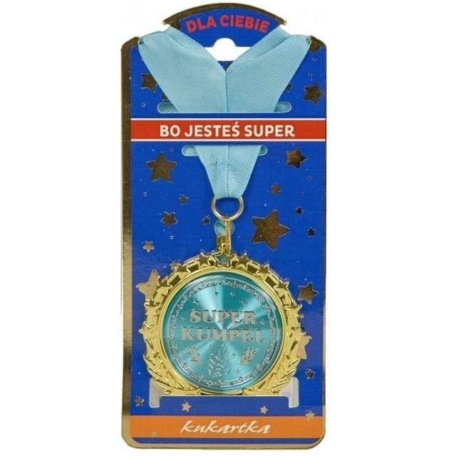 """Naszyjnik """"Medal Super Kumpel"""", złoty, TopGift"""