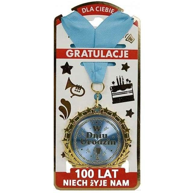 """Naszyjnik """"Medal - W dniu urodzin"""", srebrny, TopGift"""