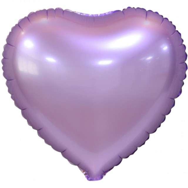 "Balon foliowy ""Serce Matowe"", liliowy, GODAN, 18"" HRT"