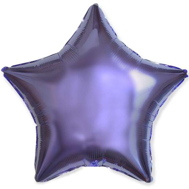 "Balon foliowy ""Gwiazda"", liliowy, Flexmetal, 18"", STR"