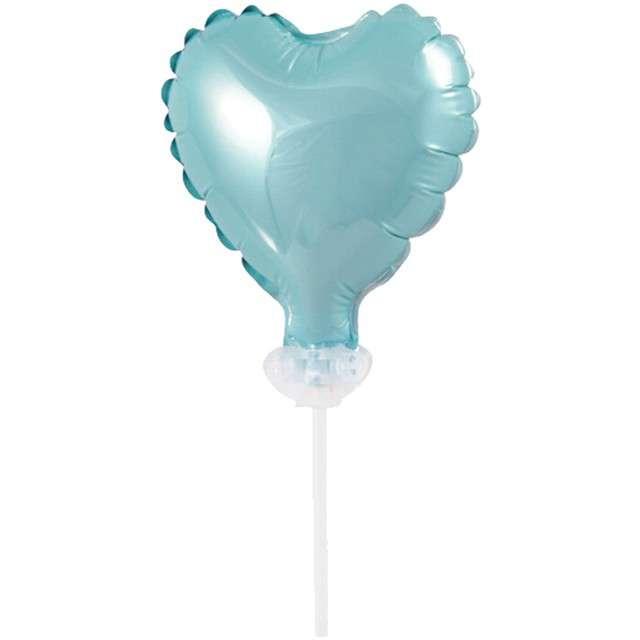 """Balon foliowy """"Serce na patyczku"""", błękitny, Godan, 8"""", HRT"""