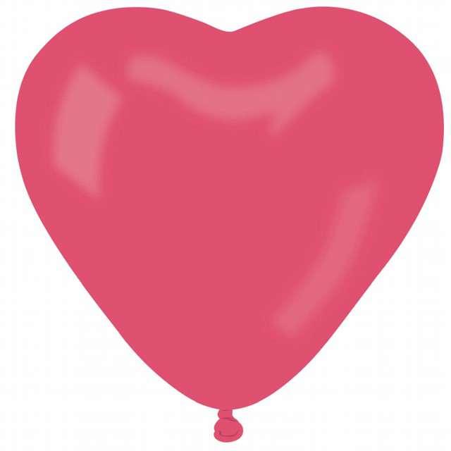 """Balon """"Serce Pastel"""", różowy, Gemar, 44 cm, 50 szt, HRT"""