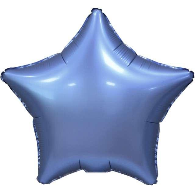 """Balon foliowy """"Gwiazda Matowa"""", Godan, niebieski, 19"""""""