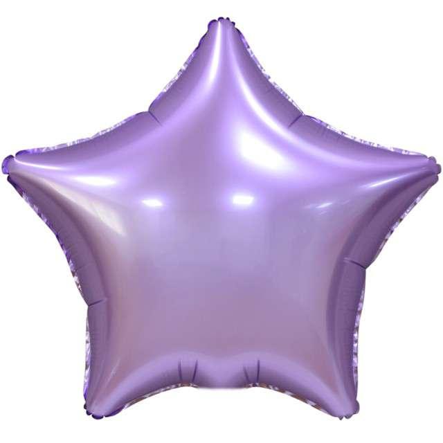 """Balon foliowy """"Gwiazda Matowa"""", liliowy, GoDan, 19"""", STR"""