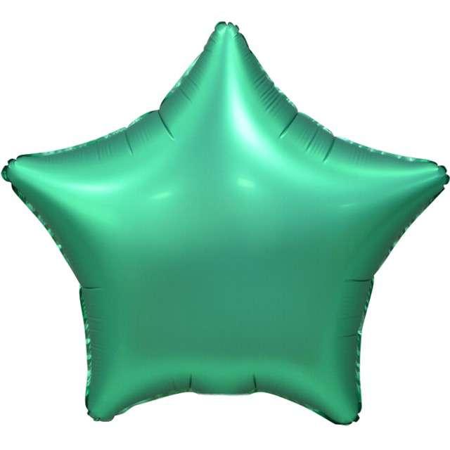"""Balon foliowy """"Gwiazda Matowa"""", zielony, GoDan, 19"""", STR"""