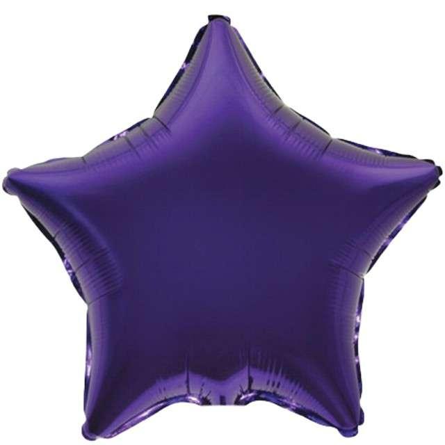 """Balon foliowy """"Gwiazda JUMBO"""", fioletowy, FLEXMETAL, 28"""" STR"""