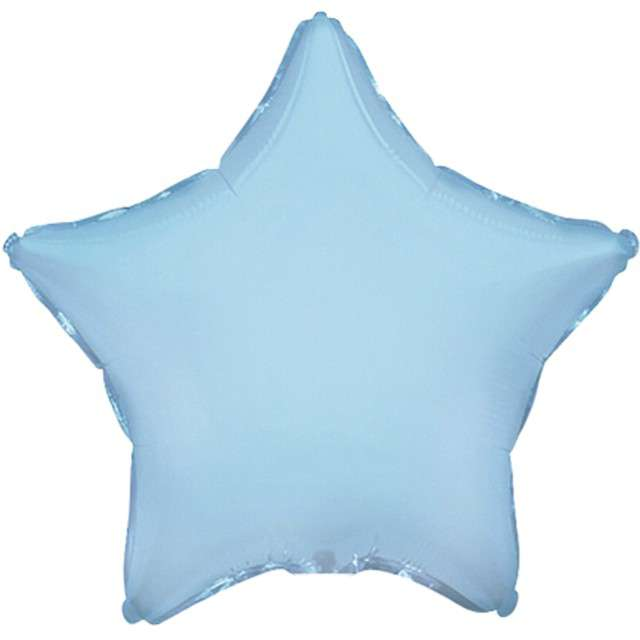 """Balon foliowy """"Gwiazda JUMBO"""", niebieski jasny, FLEXMETAL, 28"""" STR"""