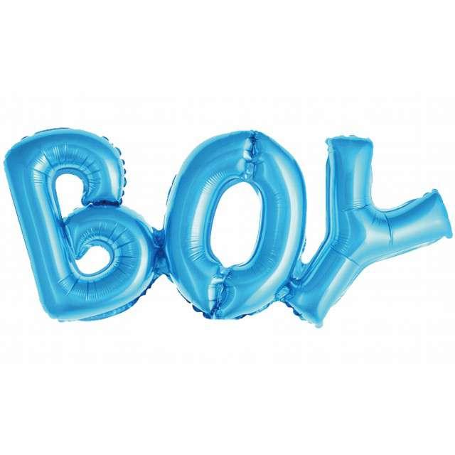 "Balon foliowy ""BOY"", niebieski, Godan, 71 cm, SHP"