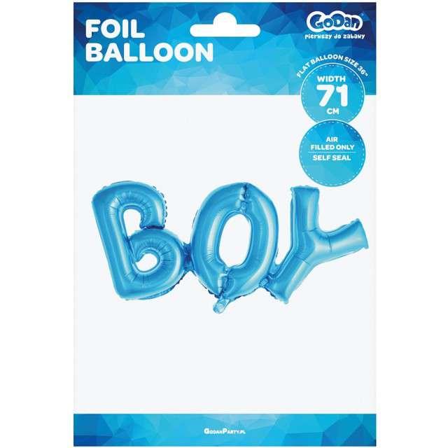 Balon foliowy BOY niebieski Godan 71 cm SHP