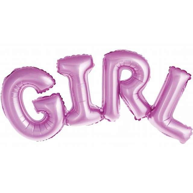 """Balon foliowy """"Girl"""", różowy, Godan, 73 cm"""