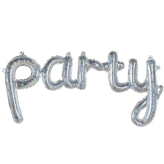 """Balon foliowy """"Party"""", srebrny, Godan, 35"""", SHP"""
