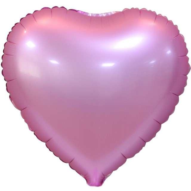 """Balon foliowy """"Serce Matowe"""", różowy, GODAN, 18"""" HRT"""