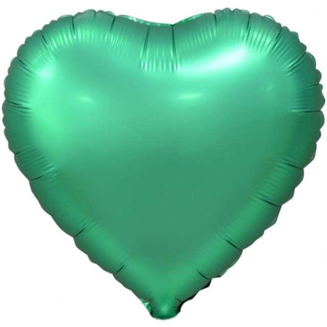"""Balon foliowy """"Serce Matowe"""", zielony, GODAN, 18"""" HRT"""